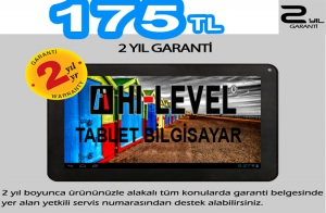 "HI-LEVEL HLV-T706 1.2 Ghz. 1 GB RAM 8 GB HAFIZA HDMI 7"" TABLET PC 175TL"